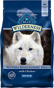 Blue Buffalo Wilderness High Protein, Natural Senior Dry Dog Food, Chicken 4.5-lb