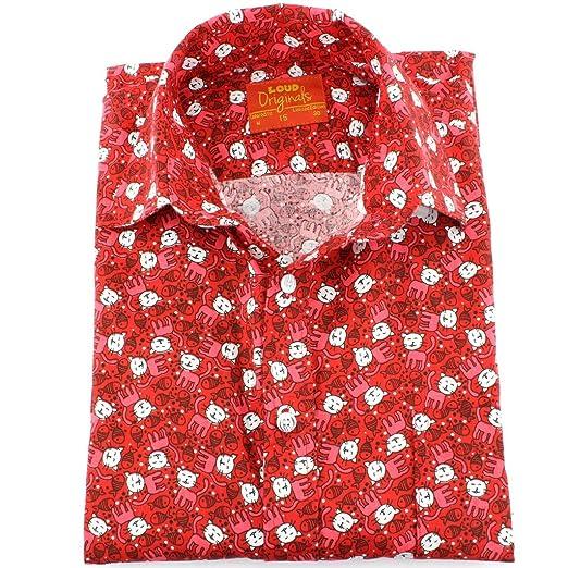 Loud Originals geschneidert Hemd mit kurzen Ärmeln - rot Katzen & Fisch - rot  Katzen & Fisch, 16