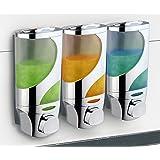 HotelSpaWave Luxury Soap/shampoo/lotion Modular-design Shower Dispenser System (Pack of 3)