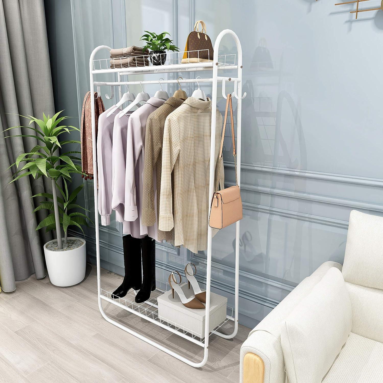 Direct store Kefair Metal Garment Rack Free-Standing Organzier Heavy Closet D Trust
