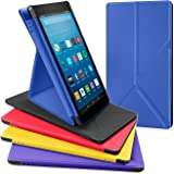 All-New Amazon Fire HD 8 Tablet Case, DTTO Slim-Fit Color-Matched Transformable Multi-Angle stand for Amazon Fire HD 8 Case (7th Generation, 2017 Released only) with Auto Sleep/Wake, Marine Blue