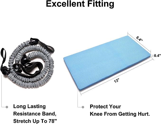 Nueva 3-en-1 AB Roller Kit - Mejor ODOLAND AB Roller Pro con el cojín de la rodilla resistente Banda Los mangos antideslizantes y bolsa de ...