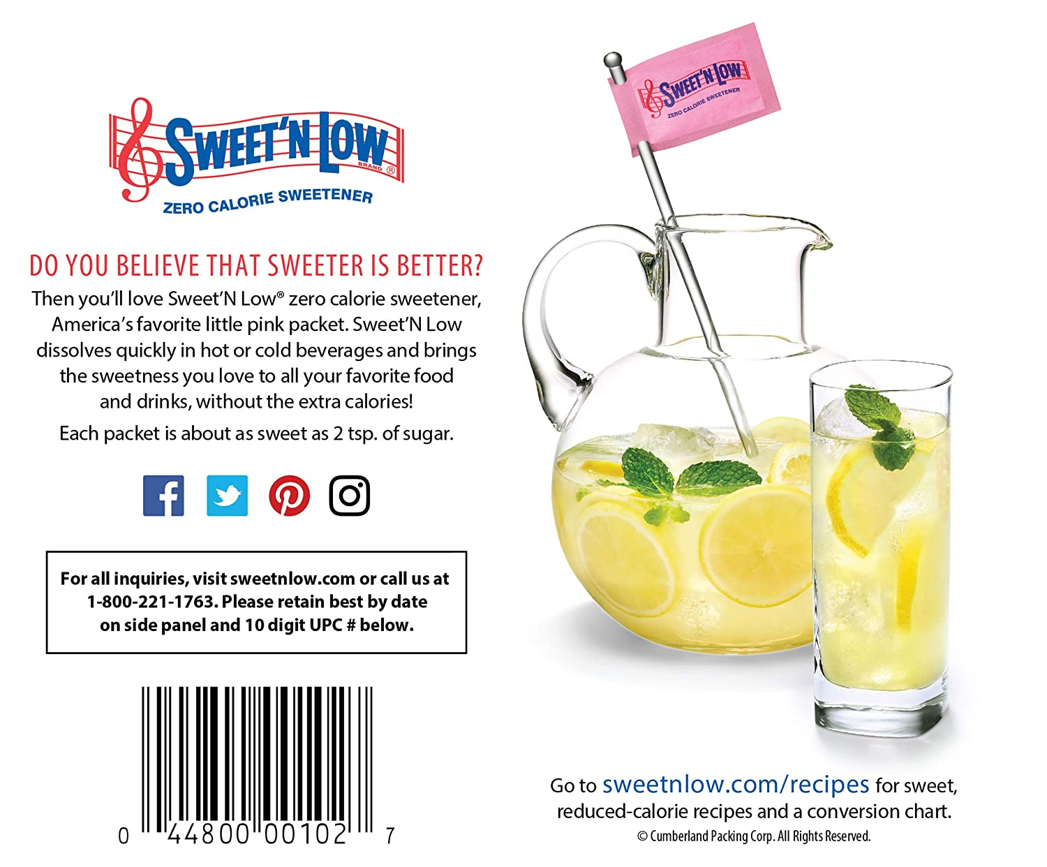 Amazon Com Sweet N Low Sweetener 100 Count Packets 12 Pack Sugar Substitute Products Grocery Gourmet Food