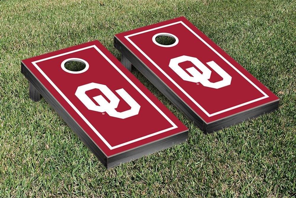 Oklahoma Sooner Cornhole Game Set Border Version by Victory Tailgate