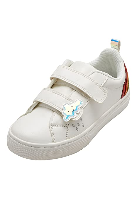 next Niñas Zapatillas De Deporte con Velcro Y Arcoíris (Niña Pequeña) Blanco EU 28 Blanco EU 28: Amazon.es: Zapatos y complementos