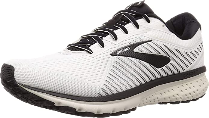 Brooks Ghost 12 Sneakers Laufschuhe Herren Schwarz/Weiß