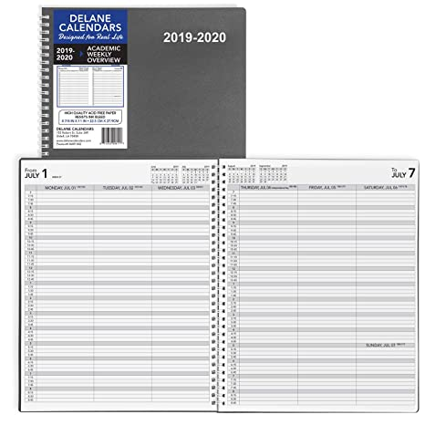 2019-2020 Weekly Planner Appointment Book, 8.5 x 11 inches, Daily Hourly Planner