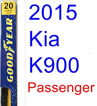 2015 Kia K900 hoja de limpiaparabrisas de repuesto Set/Kit (Goodyear limpiaparabrisas blades-premium): Amazon.es: Coche y moto