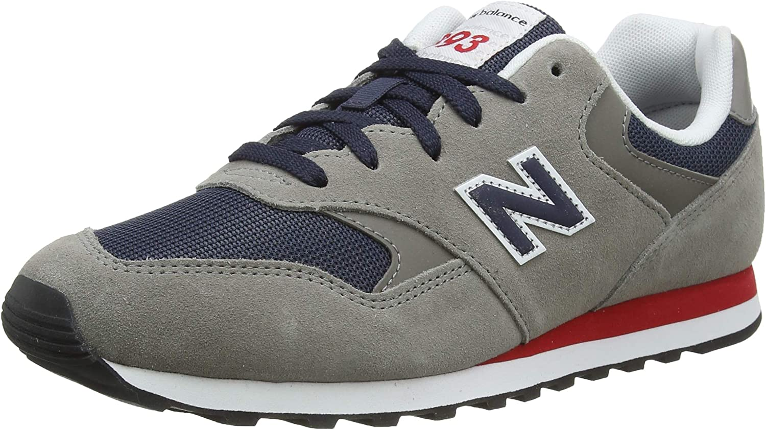 New Balance 393 Navy/Marblehead Suede Adult Trainers Shoes