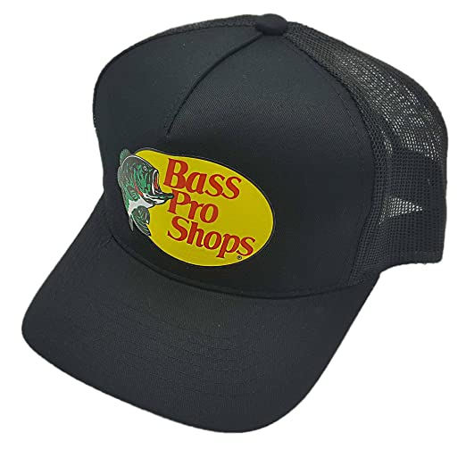 ae93d9f7 Bass Pro Shop Men's Trucker Hat Mesh Cap - One Size Fits All Snapback  Closure - Great for Hunting & Fishing