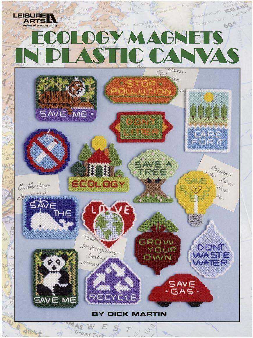 LEISURE ARTS Plastic Canvas PATTERNS HOME DECOR KIDS MAGNETS /&more  **You Choose