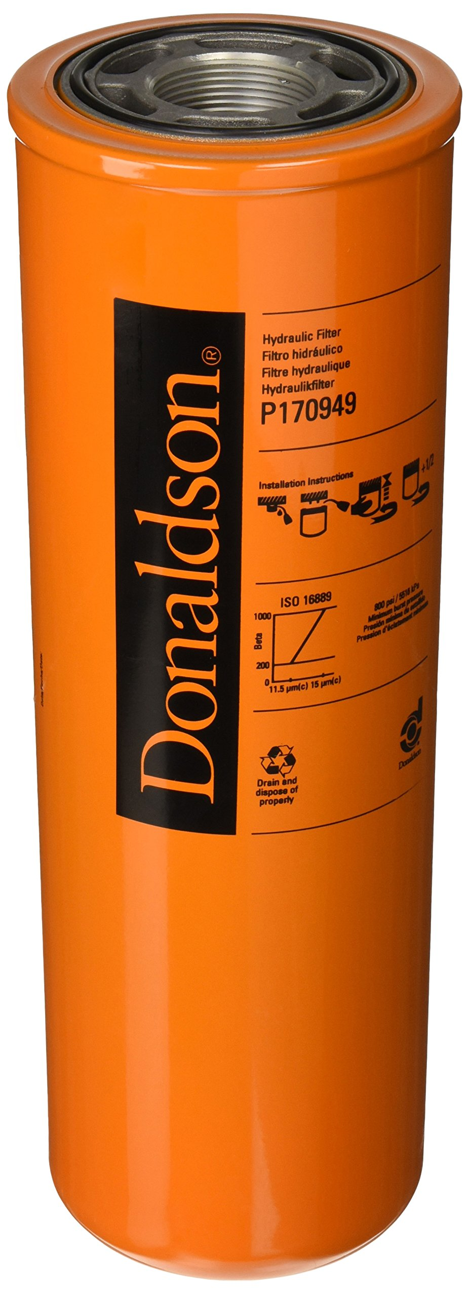 Donaldson P170949 Hydraulic Filter, Spin-on