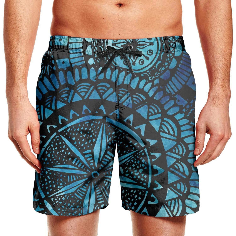 Bohemian Boho Art Ethnic Mens Boardshorts Plus Size Swimming