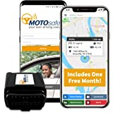 MotoSafety MPAAS1P1 Mpaas1P1 OBD GPS Vehicle Tracker Device with Phone App, One Month of Service Included