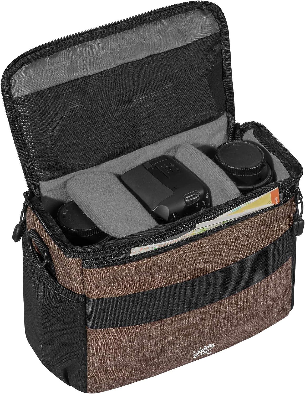 tama/ño XL Pedea SLR Fashion Funda para C/ámara Canon EOS 7d EOS M3//Nikon D5500//Pentax K de 1//Sony Alpha 6000/ 70d 1000d verde con protector de pantalla 450d 50d 5d mark iii 100d