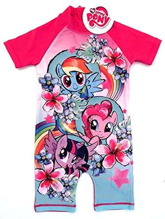 220d7efb30279 My Little Pony Girls Swimsuit Surf Suit Swimming Wear Costume (18 Month - 2  Years): Amazon.co.uk: Clothing