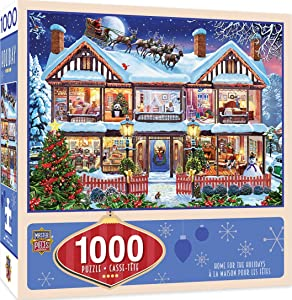 MasterPieces Seasonal Holiday Jigsaw Puzzle, Home for the Holidays, Featuring Art by Steve Crisp, 1000 Pieces