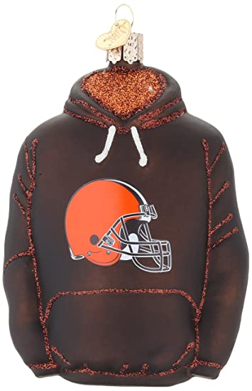 new concept 735b6 4e654 Old World Christmas Glass Blow Christmas Ornament Cleveland Browns Hoodie