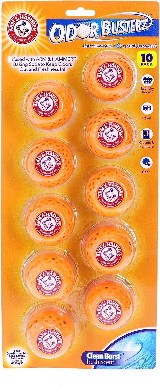 Arm & Hammer 10-Pack Odor Busterz Deodorizing Balls, 10