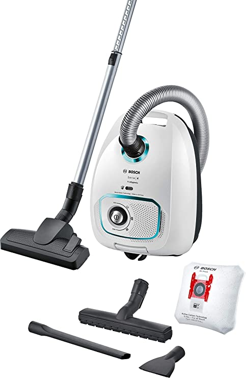 Bosch ProHygienic - Aspiradora con Saco de Remolque con Bolsas XXL y Filtro para alergias, Color Blanco: Amazon.es: Hogar