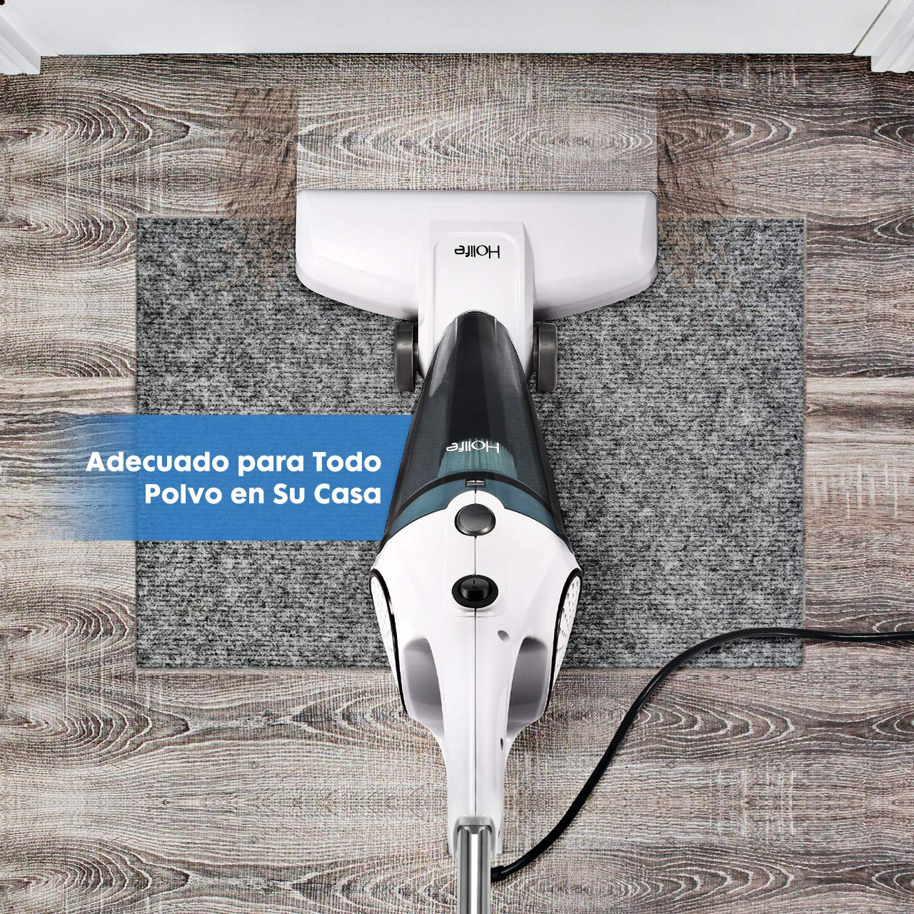 Holife Aspiradora Escoba, Aspirador Vertical & de Mano 2 en 1 [2018 Nuevo], Potencia de 12Kpa 600W, con Cable 3.9m, Aspirador de Pie con Filtro HEPA ...