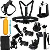 Camera Accessories Kit Starter Bundle for GoPro Hero 5 Session 4 3 2 1 SJ4000 SJ5000 HD Action Video Cameras by LotFancy (12 Items)
