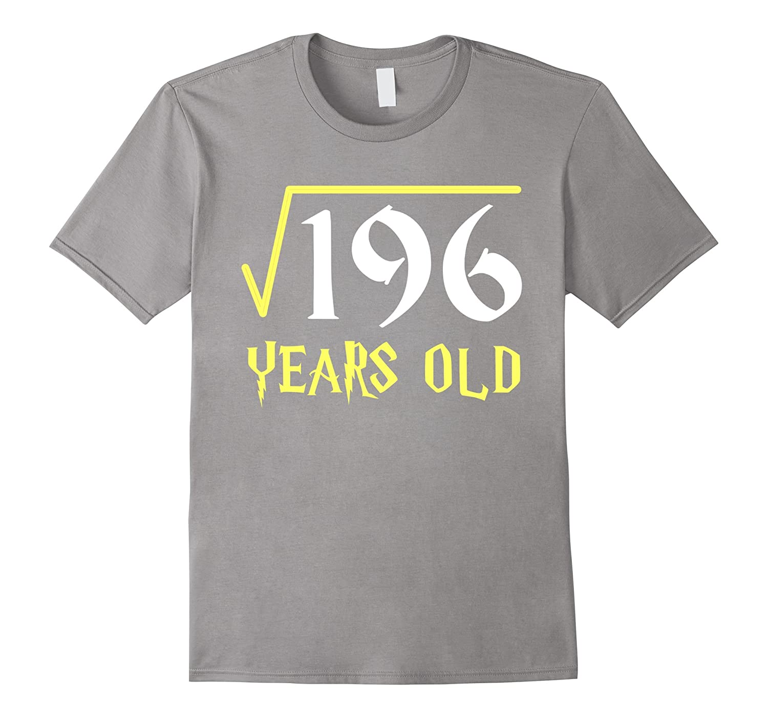 Square Root of 196 14 Years Old 14th Birthday T-Shirt-Vaci