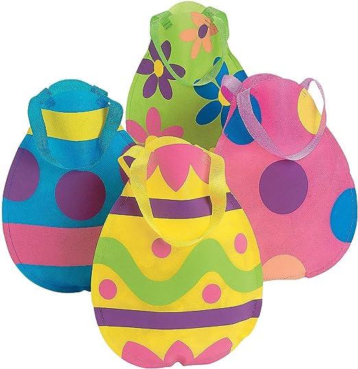 Easter Egg Hunt Tote Bags Set of 4
