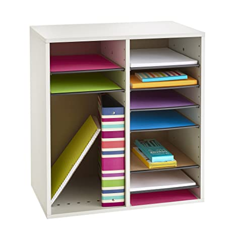 Amazon safco products wood adjustable literature organizer 24 amazon safco products wood adjustable literature organizer 24 compartment 9423mo medium oak durable construction removable shelves solutioingenieria Choice Image