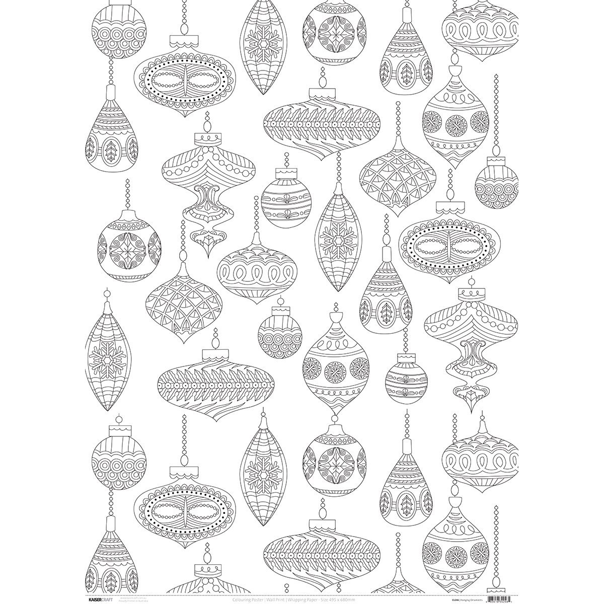 Kaisercolour Coloring Poster 27''X19''-Hanging Ornaments