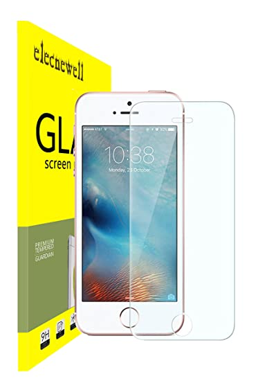 outlet store ff447 c64ed iPhone 5S/SE Screen Protector, NEWELL Pro™ Ultra-clear Glass Screen  Protector High Definition Premium Protective Screen Guard (for iPhone  5/5s/5c)