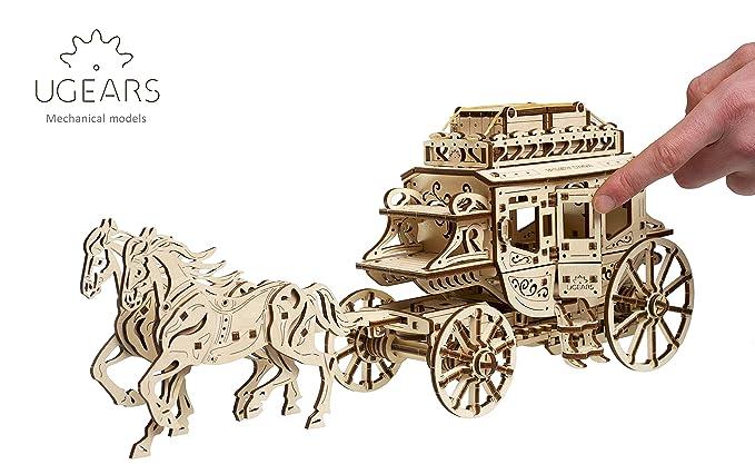 UGEARS 70045 Históricos Post Carruaje DIY Maqueta de Mecanismo de fácil y Amplia de - Bella y Original geschnitzte Post Carruaje de Caballos 248 Compartir ...