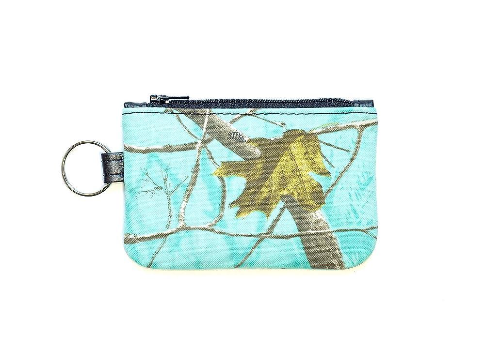 Camouflage zipper pouch keychain Mossy Oak Camo Keychain Coin Purse