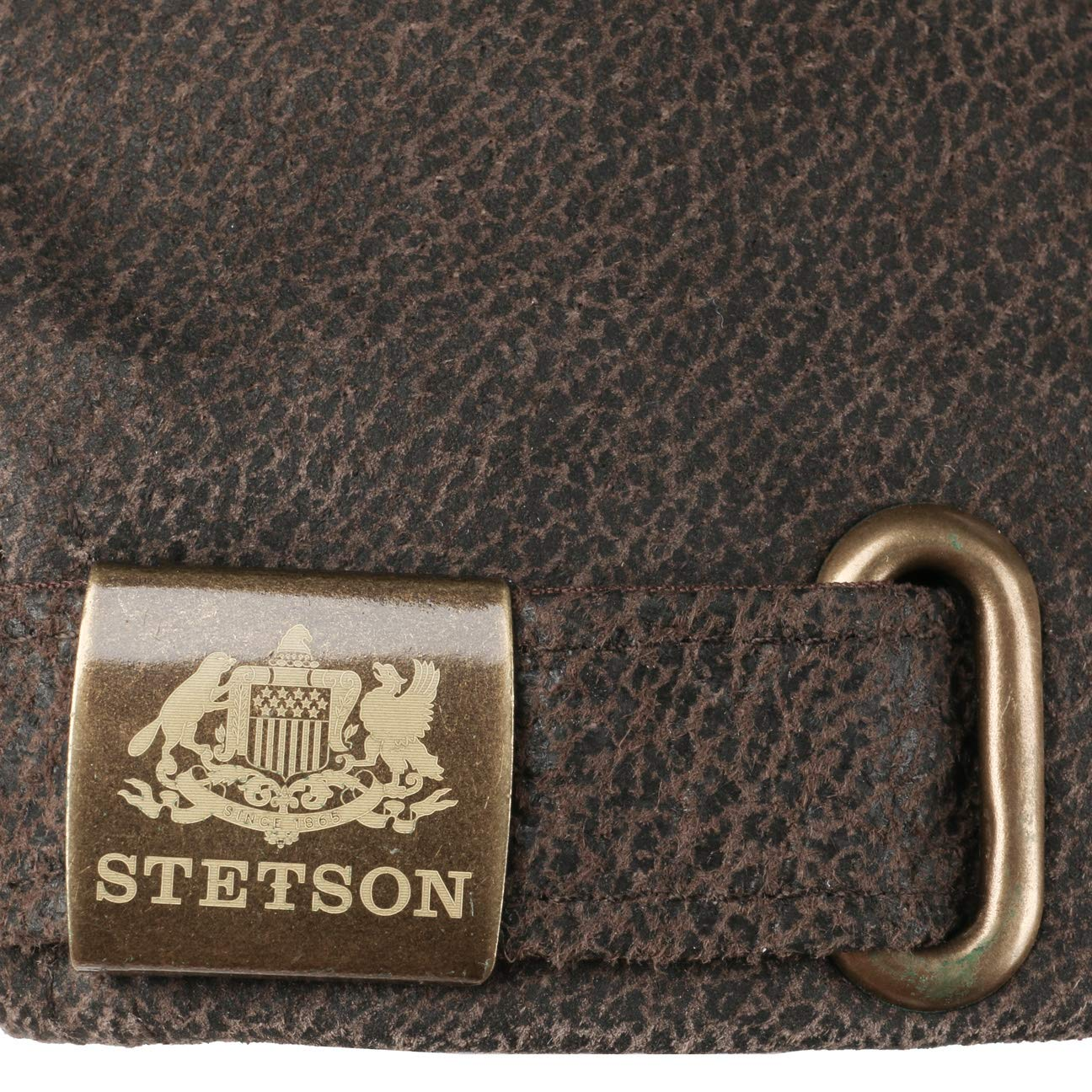 Stetson Liberty cap Uomo con Visiera Estate//Inverno Cappello Baseball Berretto Cappellino in Pelle Fibbia Metallo