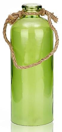 BRUBAKER Botella luminosa con 10 estrellas LED - para colgar - 11 x 31,5