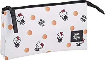 Hello Kitty Estuche portatodo triple escolar: Amazon.es: Equipaje