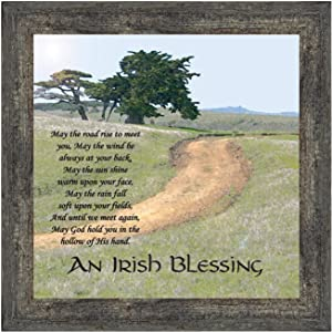 Irish Blessing Wall Decor, May The Road Rise Up to Meet You, Celtic Decor Home Blessing Sign, Irish Gifts for Women. Irish Wall Decor, House Warming Presents for New Home 8586BW