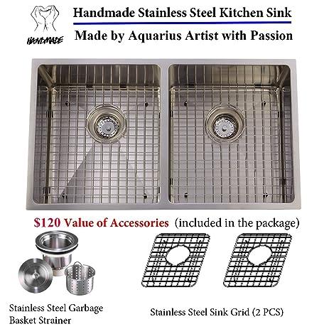 Unbeatable Price Package Deal Aquarius 16 gauge Double Bowl Hand ...