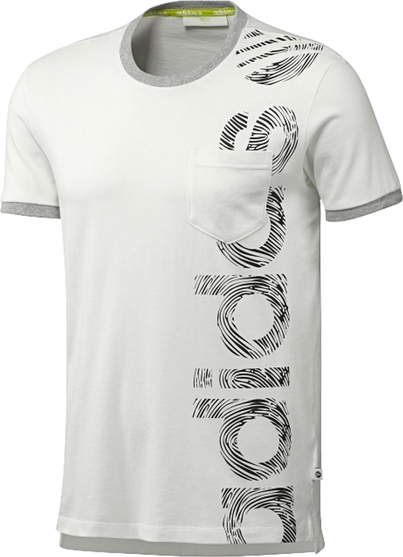adidas Neo algodón Camiseta de Talla S SC L PK T Runwhite/Black: Amazon.es: Deportes y aire libre