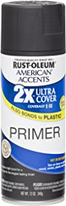 Rust Oleum 280713 American Accents Ultra Cover 2X Spray Paint, Black Primer, 12-Ounce