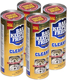 product image for Bar Keepers Friend Powder Cleanser 21 oz - Multipurpose Cleaner & Stain Remover - Bathroom, Kitchen & Outdoor Use - for Stainless Steel, Aluminum, Brass, Ceramic, Porcelain, Bronze and More (4)