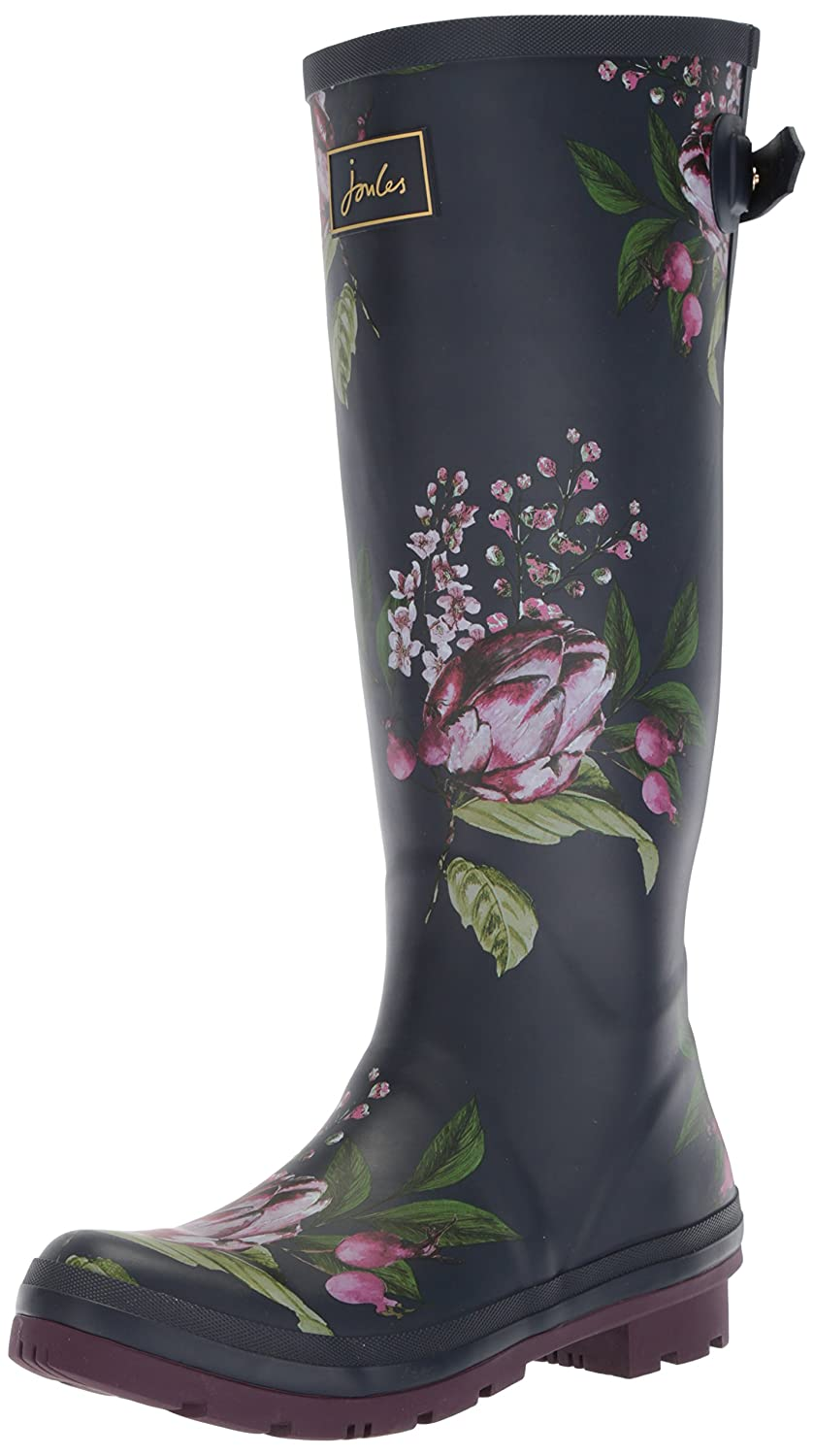 Joules Women's Wellyprint Rain Boot B073XJMH8P 7 B(M) US|French Navy Artichoke Floral