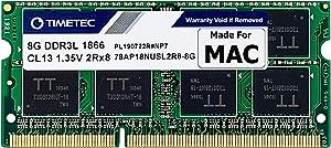 Timetec Hynix IC 8GB Compatible for Apple Late 2015 iMac 27-inch w/Retina 5K Display DDR3L 1866MHz / 1867MHz PC3L-14900 2Rx8 CL13 1.35V SODIMM Memory Upgrade (8GB)