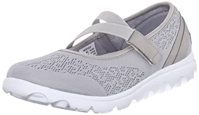 Propet Womens Travelactiv Mary Jane Fashion Sneaker       Silver