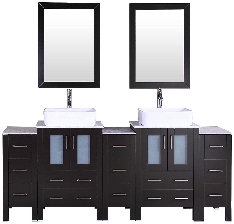 Bosconi Bathroom Vanities 84 Double Vanity Set With Rectangle