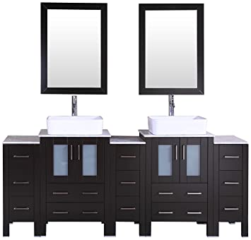 Bosconi Bathroom Vanities 84 Double Vanity Set With Rectangle