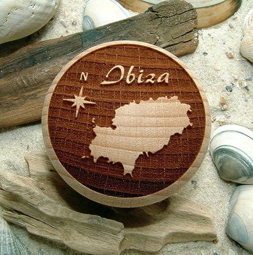 Mobelknauf Ibiza Gravur Mobelknopf Holz Buche Natur Amazon De Handmade