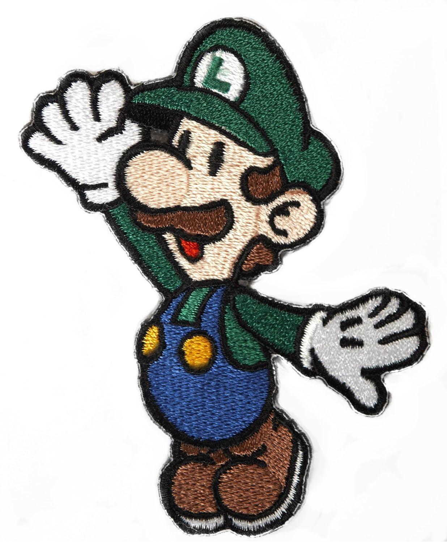 Luigi mario brothers. Amazon com patch embroidered