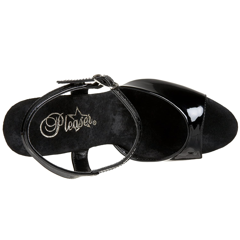 Pleaser Women's Bondgirl-709 Platform Sandal B003083M3G 8 B(M) US Black Patent