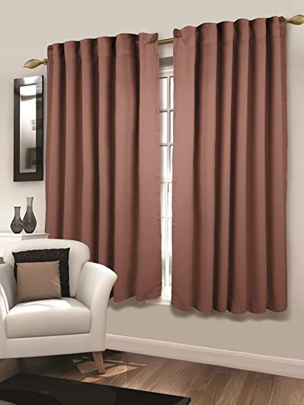Mothers Day! Tailormader 2 Piece Top Thermal Insulated Blackout Curtain Heavy Duty Fabric 52""